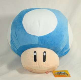 Super Mario Brothers Figure Plush Doll Soft Toy blue TOAD Mushroom