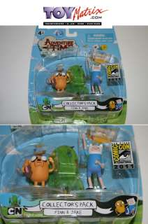ADVENTURE TIME FINN & JAKE 2 PACK SDCC 2011 exclusive set
