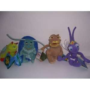Disneys Bugs Life Set of 4 Collectible Plush Toys