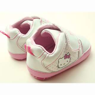 Big Sale New Baby Girls White Pink Kitty Walking Shoes 12 18 Month