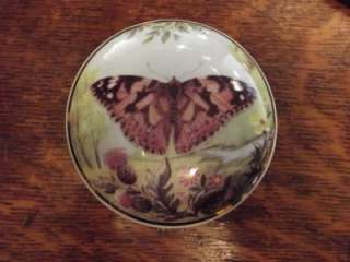 Falcon China Staffordshire England, Butterfly Jewelry Trinket Box