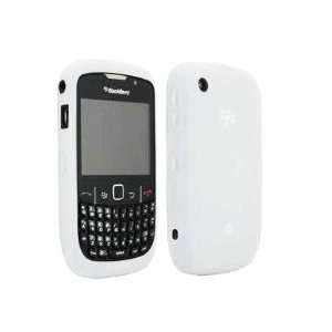 White High Quality Soft Silicone For Blackberry Curve 2 8520 8530 Case