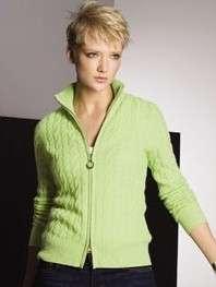 Sutton Studio Womens Deconstructed Jersey Jacket