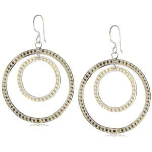 Anna Beck Designs Bali Double Hoop 18k Gold Plated Earrings Jewelry