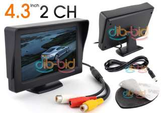 TFT LCD Car Rear View Color Camera Monitor & DVD