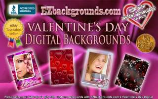 LOVE DIGITAL BACKGROUNDS & VALENTINES DAY HEART FRAMES  TOO