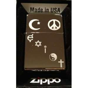 Zippo Custom Lighter   Coexist Islam, Pease, Male Female