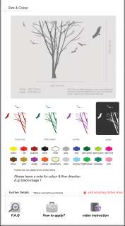 Large Tree Trunk Birds Wall Art / Wall Stickers / Wall Decals / Wall