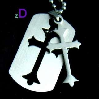 B4001 Vogue Men Stainless Steel Cross Pendant Necklace