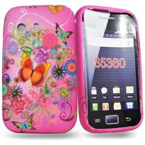Mobile Palace  Pink butterfly flower silicone case cover