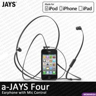 Jays Four Earphones Headphones Headset w Mic Remote Control iPhone