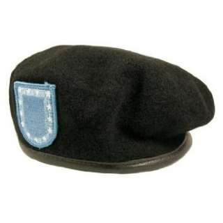Army Black Beret with Flash Clothing
