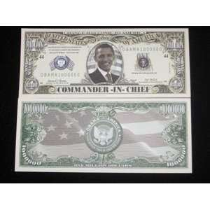OBAMA MILLION DOLLAR BILL   Novelty / Joke / Gift: Toys