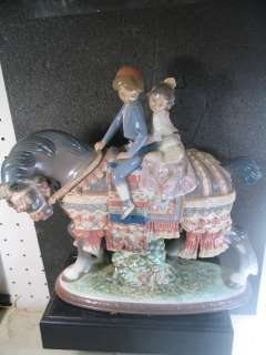Lladro Retired VALENCIAN CHILDREN Kids On Horse #1489 10.25 X 11 MIB