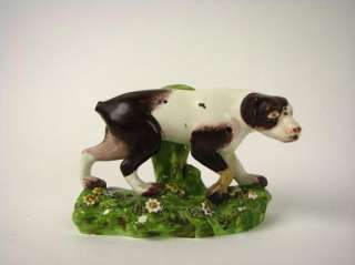 Antique Staffordshire pottery Pearlware Glaze Dog Pointer Figurine