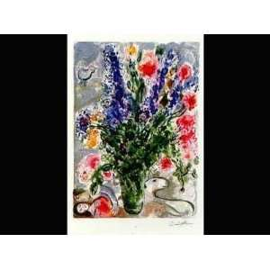 Lupins Bleus (Le)   Artist: Marc Chagall   Poster Size: 25 X 35 inches