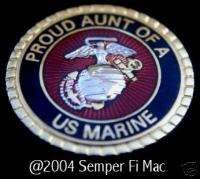 PROUD AUNT OF A US MARINE DOG TAG PIN BOOT CAMP UNCLE