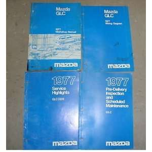 1977 Mazda GLC Shop Service Repair Manual Set Oem 4Vol