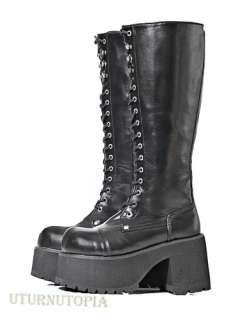 Lace Up Combat Platform Boots Steampunk Gothic Gogo Retro Cosplay