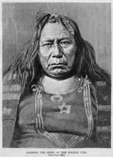 UTES INDIAN, COLOROW CHIEF OF THE HOSTILE UTES ANTIQUE