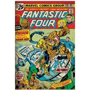 Marvel Comics Retro Fantastic Four Family Comic Book Cover #170 (aged