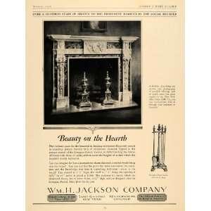 1928 Ad Georgian Period Hearth Fireplace Furnishings
