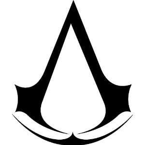 Assassins Creed BLACK 6 inch Sticker / decal Brotherhood