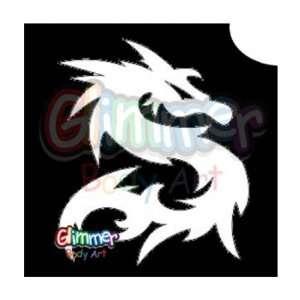Glimmer Body Art Glitter Tattoos   Dragon 1 (10/pack) Toys & Games