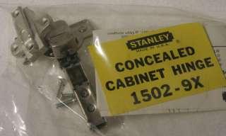 Stanley Concealed Cabinet Hinge 1502 9X