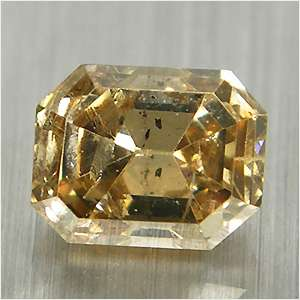 Cts Untreated Luster Fancy Fire Brown Loose Diamond Emerald Cut