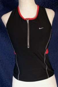 Nice Black and Pink NIKE Tank Top w Sports Bra M (8 10)
