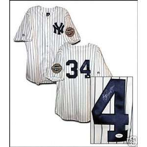 AJ Burnett Autographed Jersey 2009 New York Yankees Home Jersey