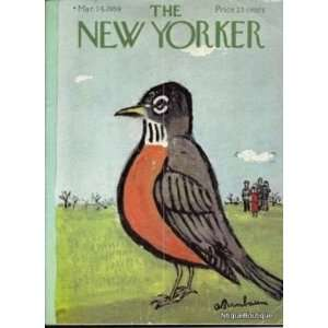 MARCH 14 1959 New Yorker Magazine Vintage Ads Cartoons