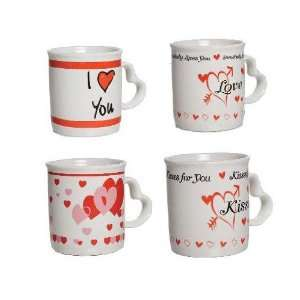 Its In The Bag 83439 Valentines Day Mug With Heart Shape Handle   Pack