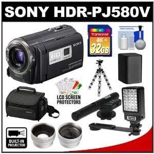 LED Light + Microphone + Battery + Tripod + Wide Angle & Telephoto