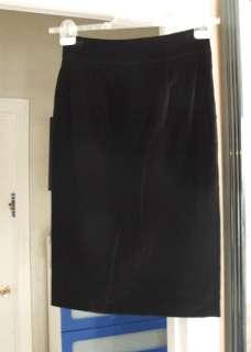 Red  Valentino Luscious Black Velvet Skirt IT 46 UK 14