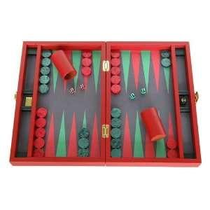 Zaza & Sacci Backgammon Board Game Set   (16 Leather
