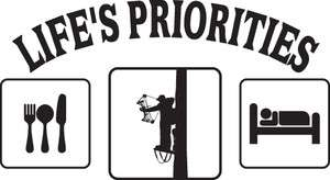 LIFES PRIORITIES EAT SLEEP HUNT BOW HUNTING DEER STICKER/DECAL CHOOSE