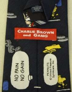 Peanuts Gang Exercise Neck Tie Snoopy Charlie Brown Lucy Pig Pen