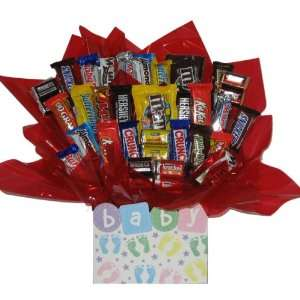 Chocolate Candy Bouquet in a New Baby gift box Everything Else