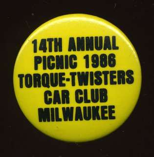 Vintage 1986 Street Hot Rod Show Torque Twisters Pin