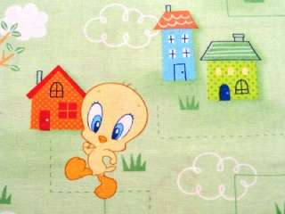 New Looney Tunes Babies Tweety Taz Bugs Bunny Cartoon Fabric BTY VIP