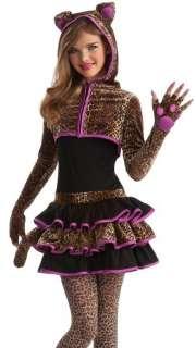 Girls Leopard Cat Cute Tween Kids Halloween Costume 883028631650