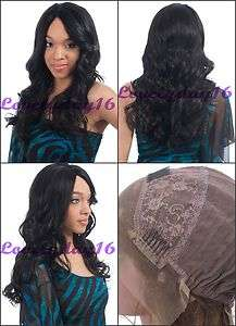 Long #1 Jet Black Body Wave Indian Remy Human Hair Lace Front Wigs 18