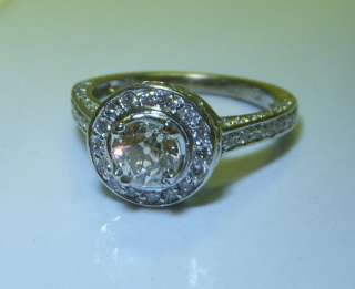 Stunning Art Deco Style, OLD EUROPEAN CUT Diamond Engagement Ring