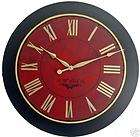 Large Wall Clock 30 Antique Framed Red Paris Hotel