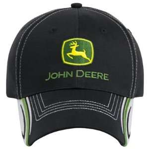 John Deere Black/Gray Youth Cap