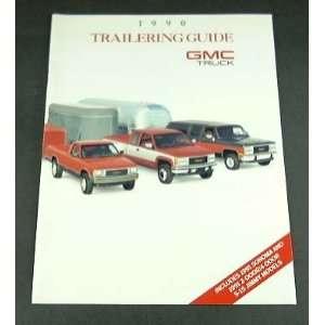 1990 90 GMC Truck TOWING GUIDE BROCHURE Sierra Jimmy