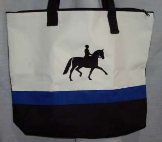 Dressage Blue Tote Bag English jumper jumping horse NEW