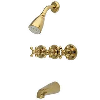 Handle Combination Bathroom Tub & Shower Diverter Faucet